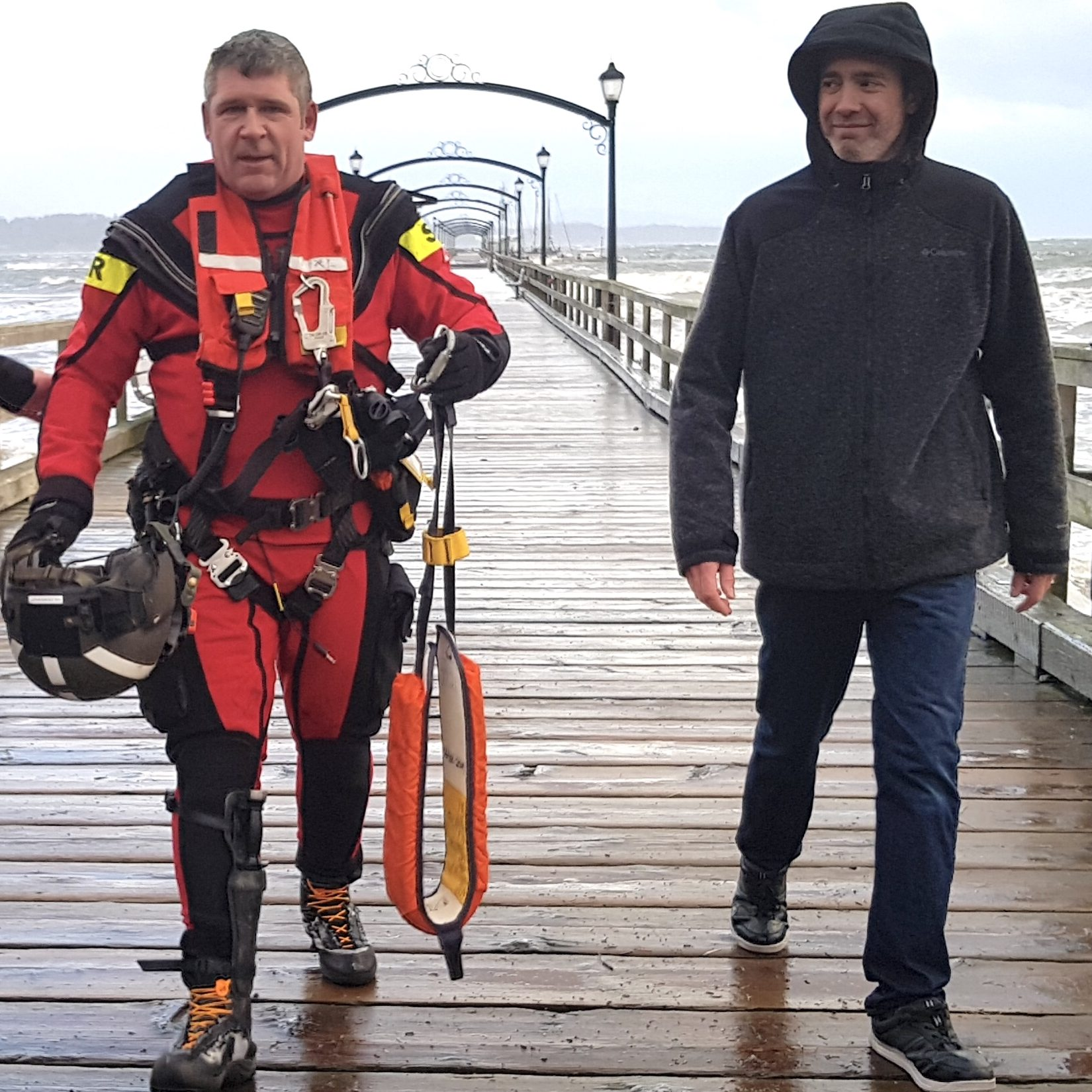 SAR Tech Marine Rescue White Rock pier
